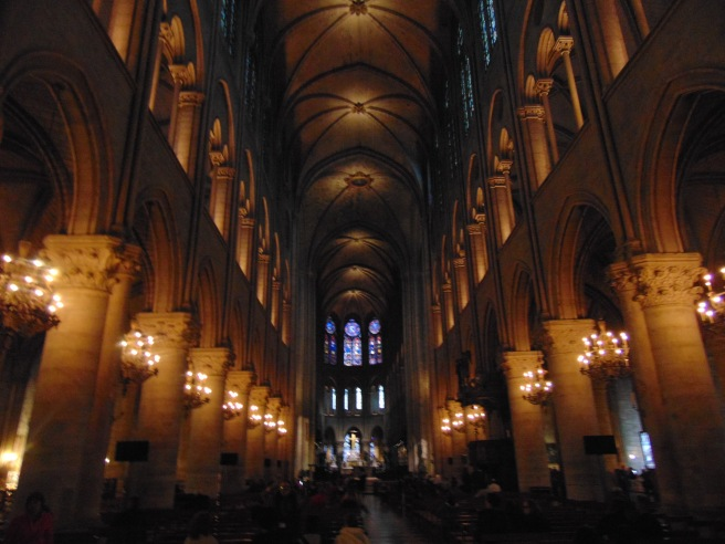 The inside of the Notre Dame